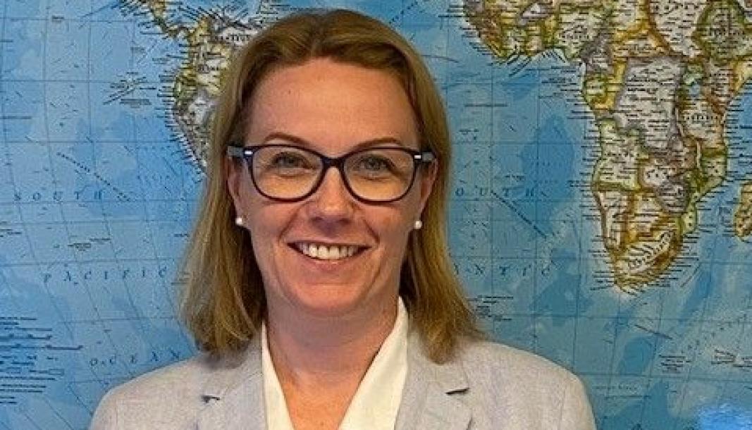 Kine J. Cummings mest utfordrende oppgave nå er å sørge for at kundene våre får utstyr og plass hjem til Norge fra i all hovedsak Kina.