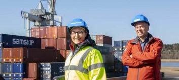 Ett containerskip erstatter 24.300 årlige trailertransporter