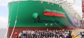 Det niende LNG-skipet i rekken
