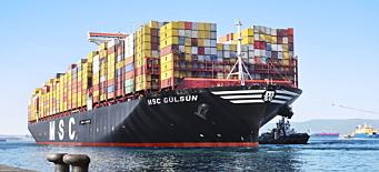 MSC på vei mot å bli verdens største containerrederi