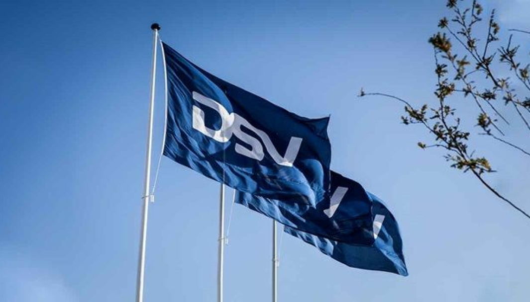 Det er kun DSV-flagget som skal vaie. Panalpina er ute.