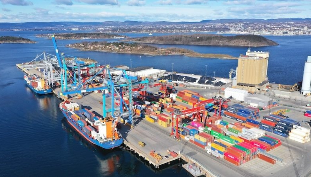 Sjursøya containerterminal (Foto: Yilport)