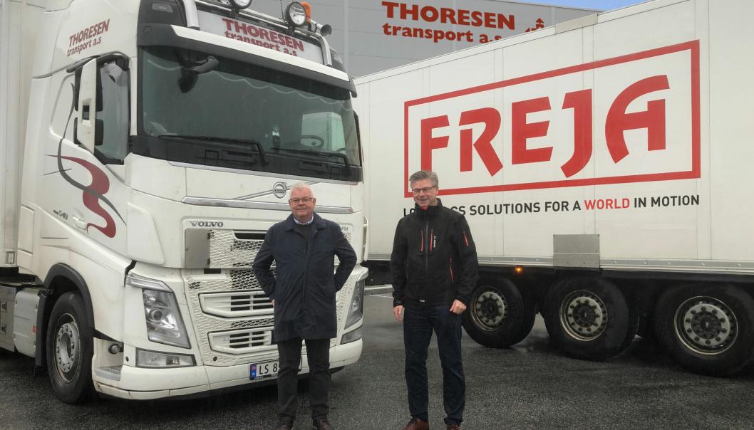 Lars Thoresen fortsetter som leder av Thoresen Transport etter at Kjell-Arne Eloranta og Freja Transport & Logistics AS har overtatt aksjemajoriteten.