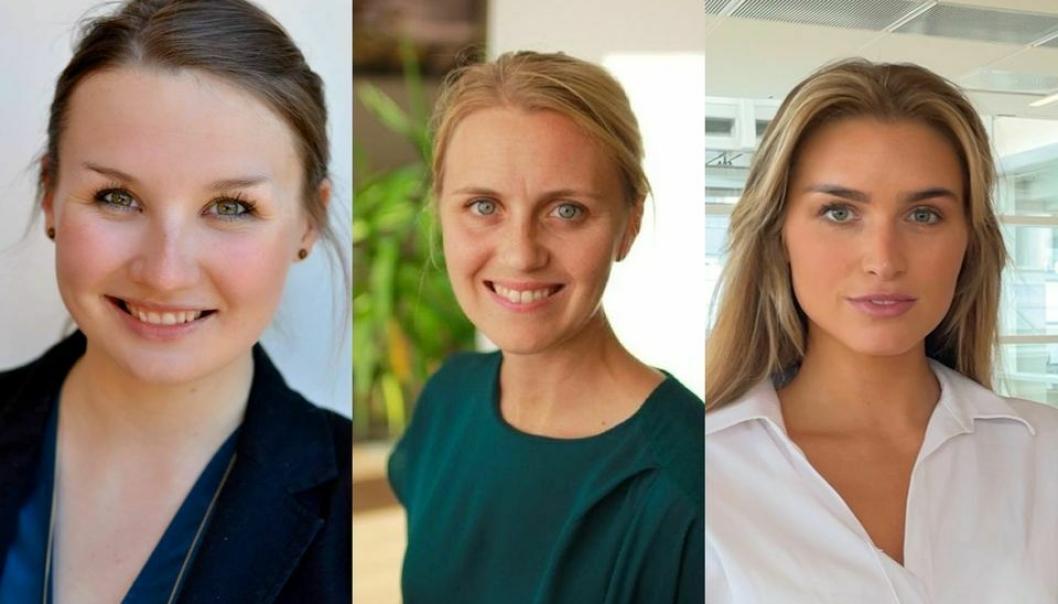 Helthjem ruster opp for videre vekst. f.v. Freya Medewitz, Katrine Lunde og Synne Haugrønning Braa. Foto: privat