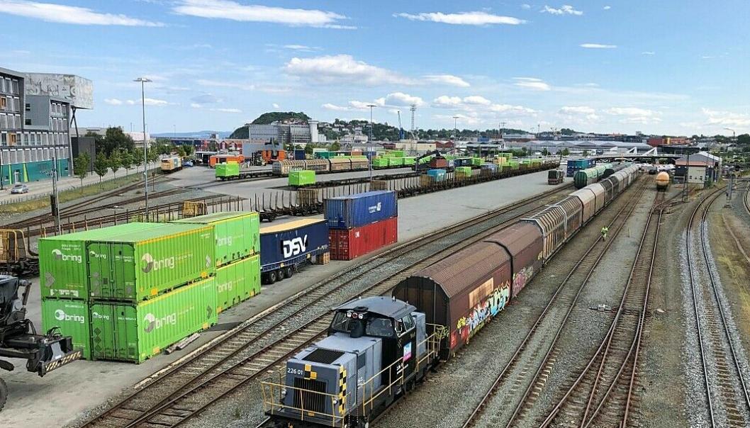 Godsterminalen i Trondheim får fortsatt ingen statsbudsjett-midler til opprustning.